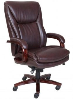 La Z Boy Edmonton Bonded Leather Office Chair Coffee Brown