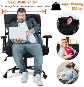 Dimensions of office chair